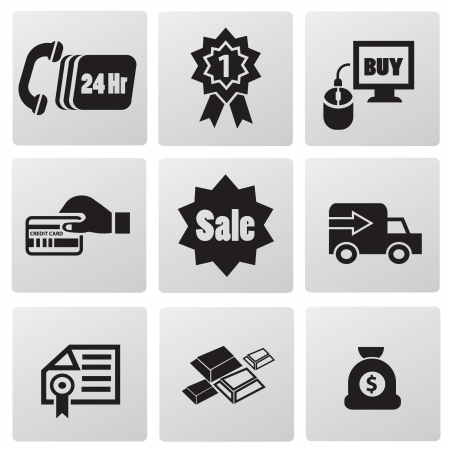 E-commerce technology icons Vector