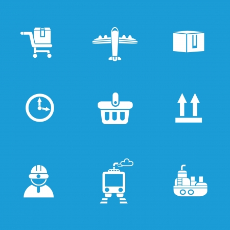 Shipping icons Stock Vector - 19908109