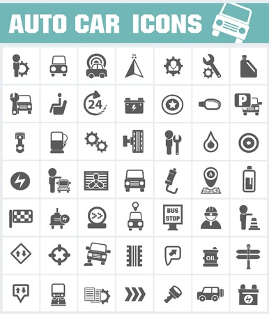 Auto car icon set