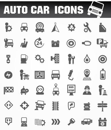 broken link: Auto coche conjunto de iconos Vectores