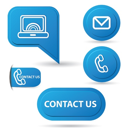 Contact us,computer,email,p hone sign Vector