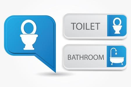 Toilet and bathroom Stock Vector - 19771229