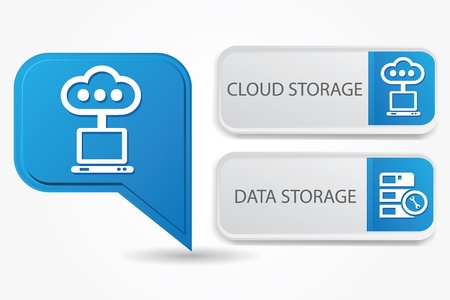 Cloud storage   data-storage Stock Vector - 19771239