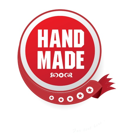 Hand made sign Vector