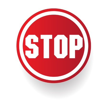 Stop sign Stock Vector - 19770550