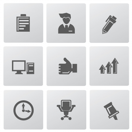 Office icons Stock Vector - 19770634