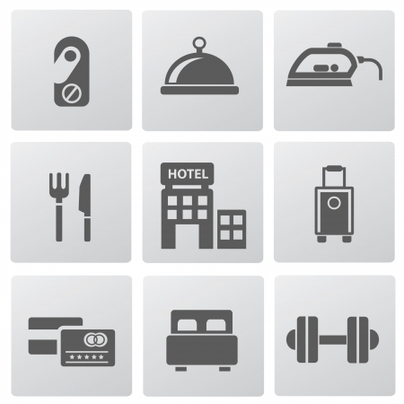 Hotel icons Stock Vector - 19770642