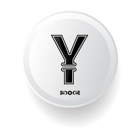 yen sign: Yen sign Illustration
