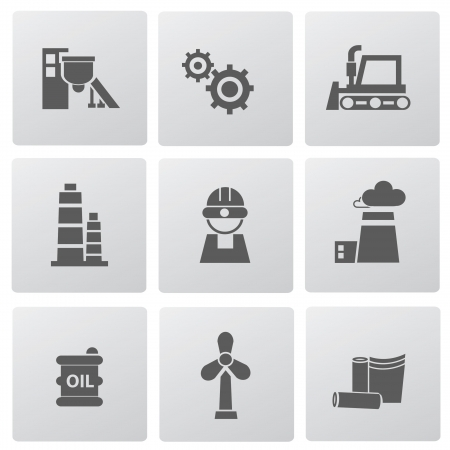 Industry icons Illustration