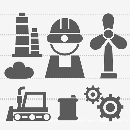 fire pit: Industry icons Illustration