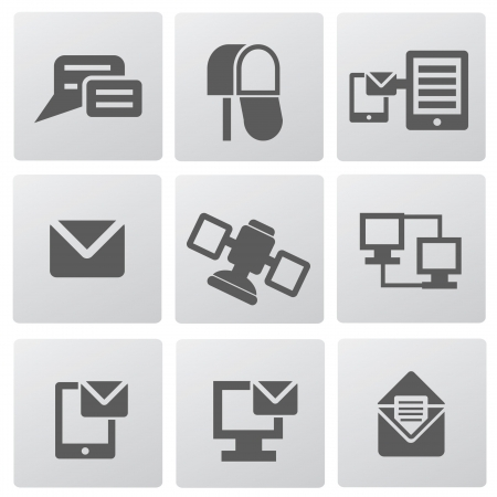 Communication icons Stock Vector - 19770638