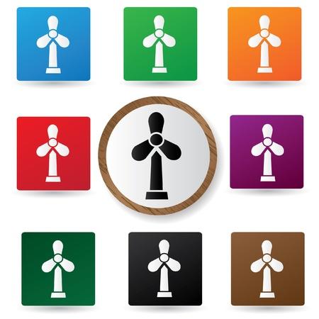 wind turbine: Signe d'une �olienne Illustration