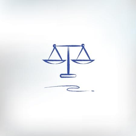 dama justicia: Escalas de la justicia Vectores