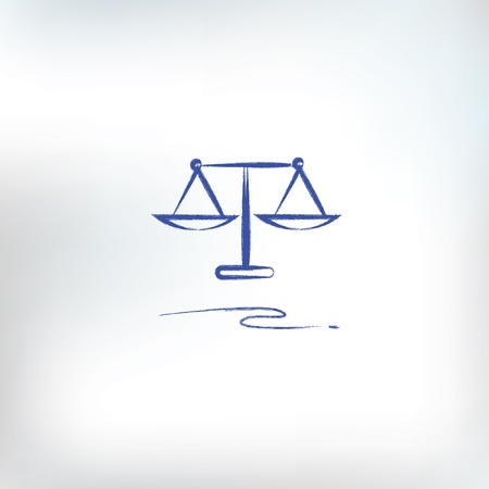 criminal law: Justice scales Illustration