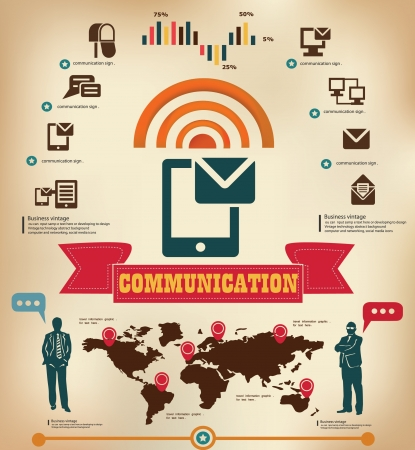 Communication vintage style,graphics design Vector