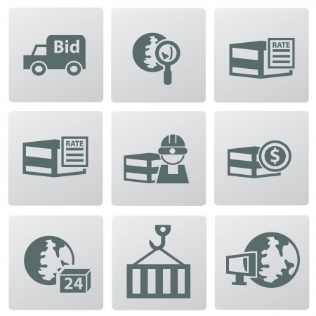 overnight delivery: Logistic icons Illustration