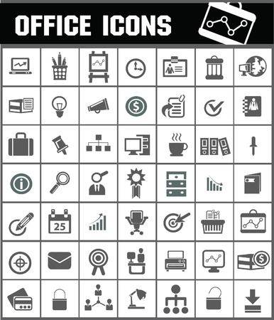 Office icons Stock Vector - 19770904