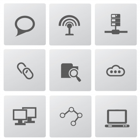 Website icons Stock Vector - 19770751