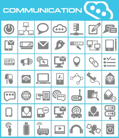 Communication icons,vector Stock Vector - 19770918