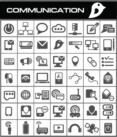 Communication icons Stock Vector - 19770896