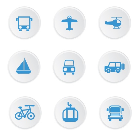 Transport icons Stock Vector - 19770639