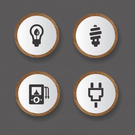 Power   Energy icons Stock Vector - 19771197