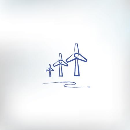 aero generator: Wind turbine sign