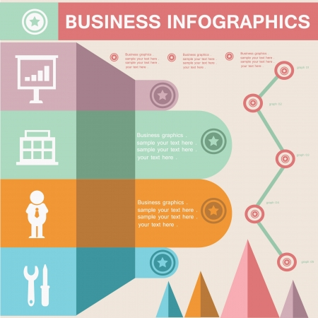 office supplies: Business concept,Info graphics,for text Illustration