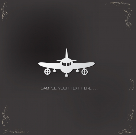commercial airline: Airplane sign