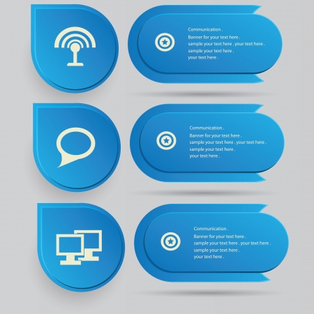 Social network sign   blank banner Vector