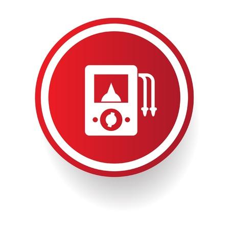 alternating current: Ampere meter sign Illustration