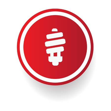 bombillo ahorrador: Muestra de la luz de neón Vectores