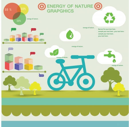 Nature green graphics design Vector