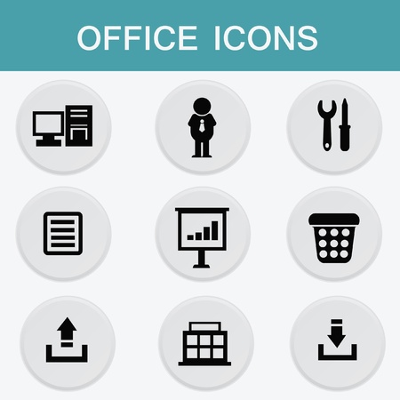 Office icon set Stock Vector - 19770711