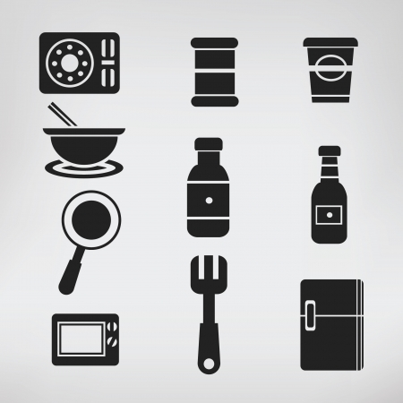Kitchen icon set Vector