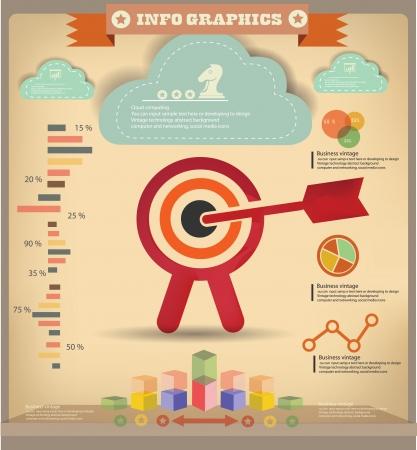 bullseye: Ziel Business-Konzept, Infografiken