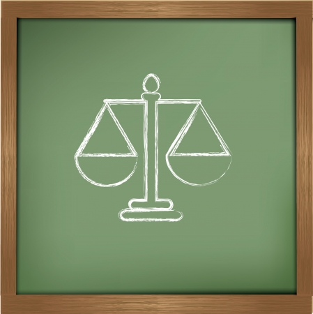 Justice drawing on blackboard background Stock Vector - 19769447
