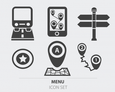 satellite navigation: GPS, mapa de iconos