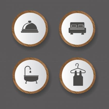 keycard: Hotel icons