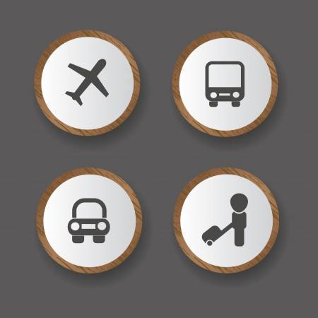 Travel and transport icons Stock Vector - 19771153