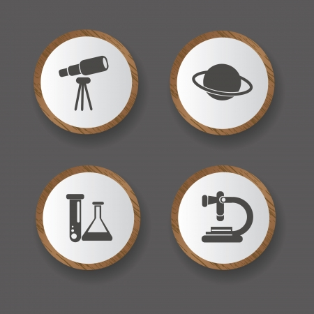Science icons Stock Vector - 19771198