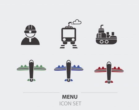 Transport and logistic icons Vector