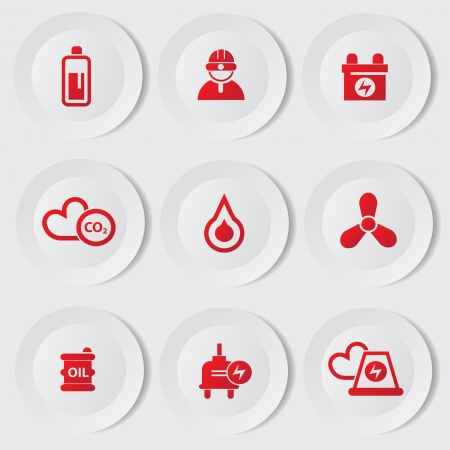 Industry and energy icons Stock Vector - 19969578