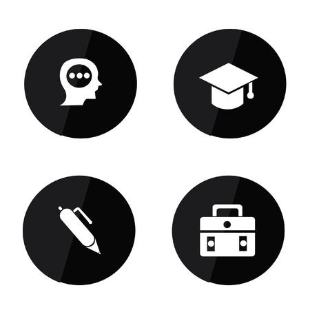 mortar board: Education icons