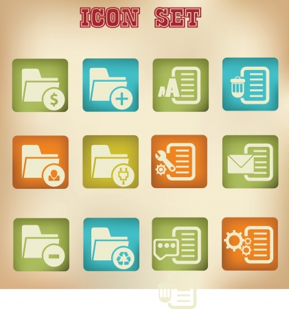 File vintage icons Stock Vector - 19908236