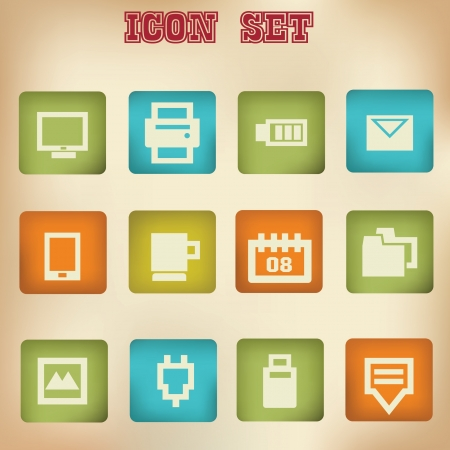 Web vintage icons Stock Vector - 19908232