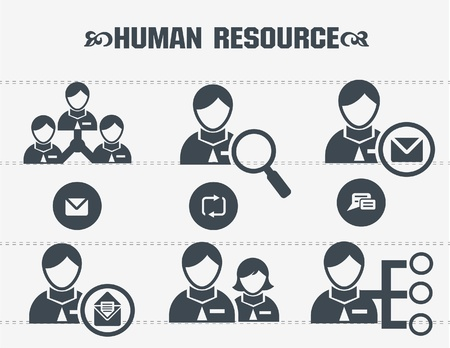Human resource,business concept icons Stock Vector - 19908129