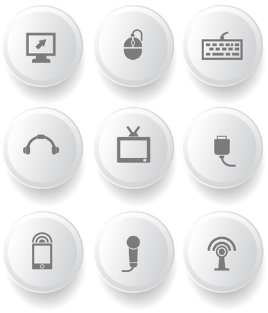 Computer buttons Stock Vector - 19908166