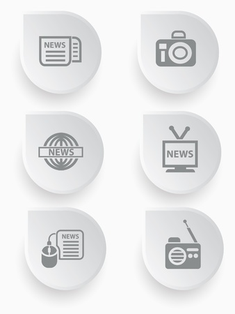 news icons Stock Vector - 19908191