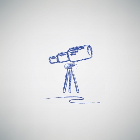 Binoculars drawing Vector